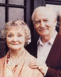 Picture of David Crosbie and his wife Jean, from Brookside