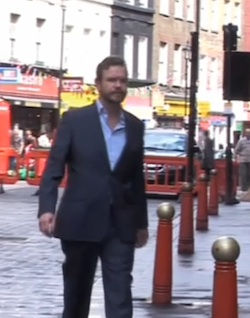 Picture of James O'Brien walking in London