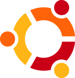 An older version of the Ubuntu logo
