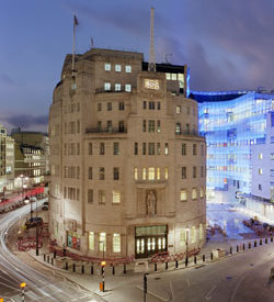 Picture of Broadcasting House in London, home of BBC London