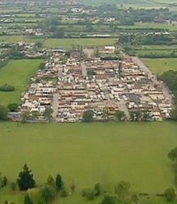 Aerial view of the Dale Farm travellers's site