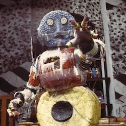 Picture of the Kandyman, a monster made of Bassett-style sweets.