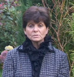 Picture of Joyce Thacker of Rotherham children's services, a white woman with fairly short, dark hair wearing a blue and white check jacket with black ruffles at the collar