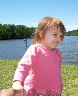 Picture of Katie Carron, an autistic 3-year-old girl murdered by her mother