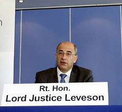 Picture of Lord Leveson, chairman of the Leveson inquiry into the British press