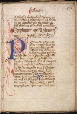A page from the Magna Carta (with some modern ballpoint writing over it).