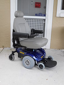 Picture of powered wheelchair, from Wikimedia