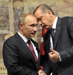 Vladimir Putin and Recep Tayyib Erdogan