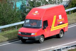 Picture of Royal Mail LDV van on a slip road