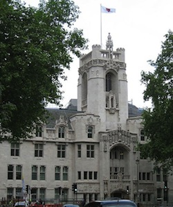 Picture of the British Supreme Court in Parliament Square, London