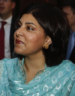 Picture of Baroness Sayeeda Warsi, a British Tory politician