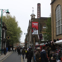 A picture of a Sunday market in Brick Lane, part of the area involved in this dispute.