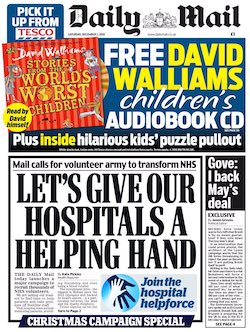 "Mail calls for volunteer army to transform NHS""."